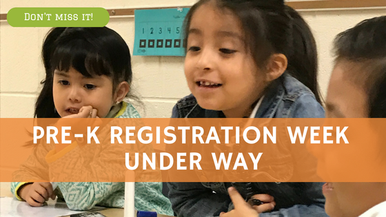 Pre-K registration week under way